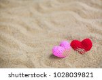 summer style with red and pink...   Shutterstock . vector #1028039821