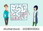 two young caucasian white and... | Shutterstock .eps vector #1028043061