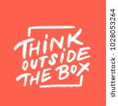 think outside the box. vector... | Shutterstock .eps vector #1028053264