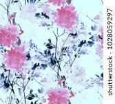 imprints abstract flowers and... | Shutterstock . vector #1028059297