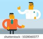 caucasian white pharmacist... | Shutterstock .eps vector #1028060377