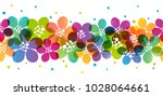 seamless border with color... | Shutterstock .eps vector #1028064661