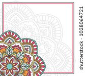 invitation card with mandala.... | Shutterstock .eps vector #1028064721