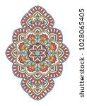 mandala. ornamental round... | Shutterstock .eps vector #1028065405