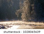 river water fog smoke with snow ... | Shutterstock . vector #1028065639