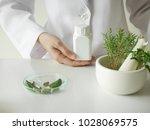 scientist or doctor making... | Shutterstock . vector #1028069575