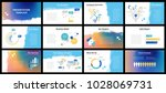 business presentation templates.... | Shutterstock .eps vector #1028069731