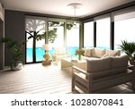 sofa corner with great views of ... | Shutterstock . vector #1028070841