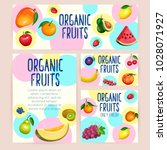 branding template with fruits.... | Shutterstock .eps vector #1028071927