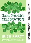 saint patricks day celebration. ... | Shutterstock .eps vector #1028072875