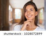 portrait of a beautiful... | Shutterstock . vector #1028072899