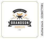 grill restaurant logo vector... | Shutterstock .eps vector #1028077081