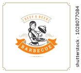 grill restaurant logo vector... | Shutterstock .eps vector #1028077084