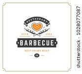 grill restaurant logo vector... | Shutterstock .eps vector #1028077087