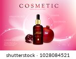 advertising poster for cosmetic ...   Shutterstock . vector #1028084521