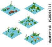 lake landscape isometric tile...   Shutterstock .eps vector #1028086735