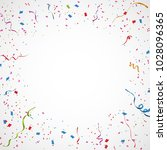 colorful confetti isolated.... | Shutterstock .eps vector #1028096365