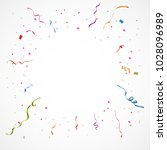 colorful confetti isolated.... | Shutterstock .eps vector #1028096989