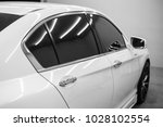 Stock photo modern and clean car white and black selective focus 1028102554