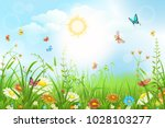 Summer Or Spring Meadow With...