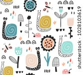 seamless childish pattern with... | Shutterstock .eps vector #1028103619