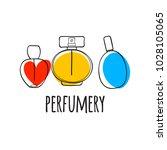 perfume bottles icons vector...   Shutterstock .eps vector #1028105065