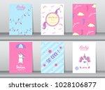 set of baby shower invitation... | Shutterstock .eps vector #1028106877