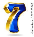 golden and blue number... | Shutterstock .eps vector #1028109847