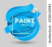 dimensional blue oil paint... | Shutterstock .eps vector #1028110081