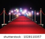 classic red carpet and flash... | Shutterstock . vector #1028110357