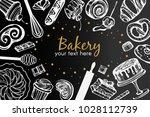 vector frame with bakery...   Shutterstock .eps vector #1028112739
