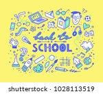 back to school. vector... | Shutterstock .eps vector #1028113519