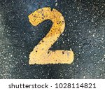 yellow number 2 two on abstract ... | Shutterstock . vector #1028114821