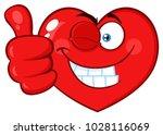 red heart cartoon emoji face... | Shutterstock .eps vector #1028116069