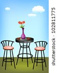 coffee table with chairs ... | Shutterstock .eps vector #102811775