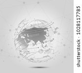global network connections icon ... | Shutterstock .eps vector #1028117785