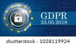 banner with bits  dlock  eu...   Shutterstock .eps vector #1028119924