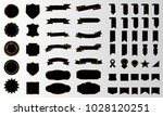 black ribbon banner label... | Shutterstock .eps vector #1028120251