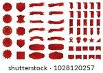 red ribbon banner label vector... | Shutterstock .eps vector #1028120257
