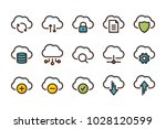 computer cloud related color...   Shutterstock .eps vector #1028120599