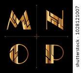 art deco alphabet design... | Shutterstock .eps vector #1028121007