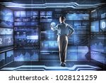 smart employer. calm attentive...   Shutterstock . vector #1028121259