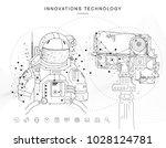 future technologies in cosmos... | Shutterstock .eps vector #1028124781