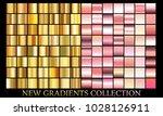 gold rose bronze gradient set...   Shutterstock .eps vector #1028126911