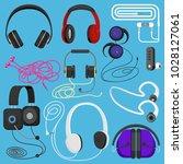 headphones vector illustration... | Shutterstock .eps vector #1028127061