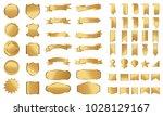 golden label ribbon banner... | Shutterstock .eps vector #1028129167