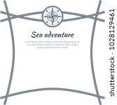 sea adventure  colorful card ... | Shutterstock .eps vector #1028129461