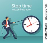 stop time concept. business... | Shutterstock .eps vector #1028129731