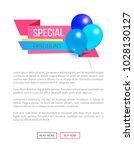 special discount weekend sale... | Shutterstock .eps vector #1028130127
