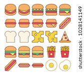 food icon set vector isolated ...